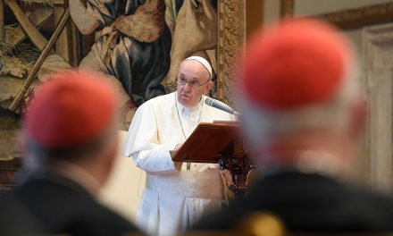 Pope Francis urges Roman Curia to confront the 'ecclesial crisis'