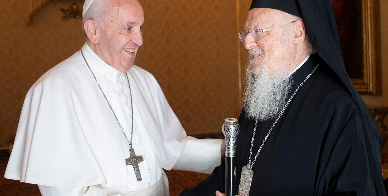 Pope Francis tells Orthodox leader: I am confident we will achieve full unity