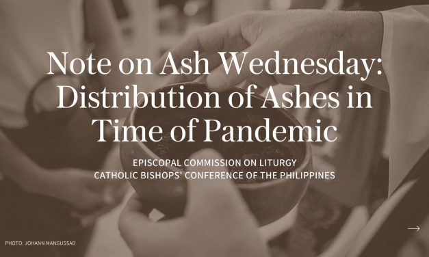 Note on Ash Wednesday: Distribution of ashes in time of pandemic