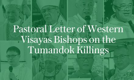 Pastoral letter of Western Visayas bishops on the Tumandok killings