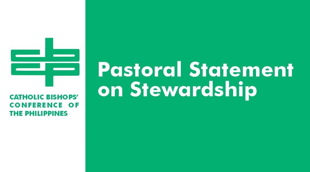 Pastoral Statement on Stewardship