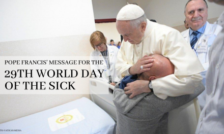 Pope Francis' message for the 29th World Day of the Sick