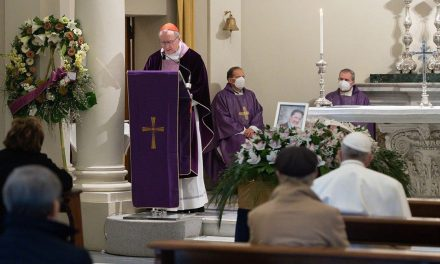 Pope Francis attends Vatican funeral of his personal physician