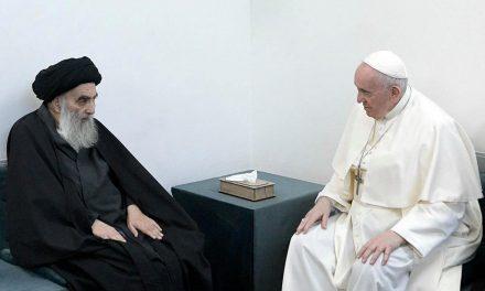 Pope Francis makes landmark visit to Iraq's top Shiite cleric Grand Ayatollah Ali al-Sistani