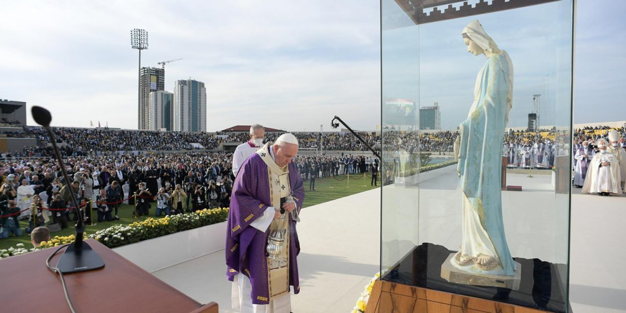 Pope Francis in Erbil: 'Today I can see at first hand that the Church in Iraq is alive'