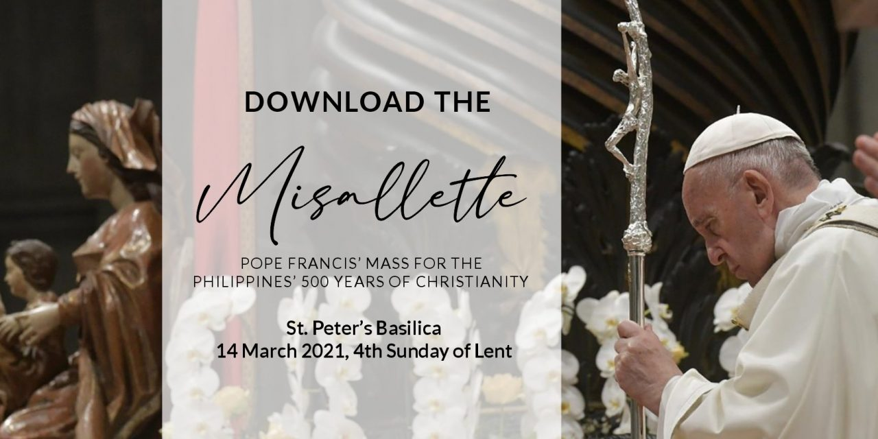 Vatican releases papal Mass booklet for 500 years of Catholic faith in PH