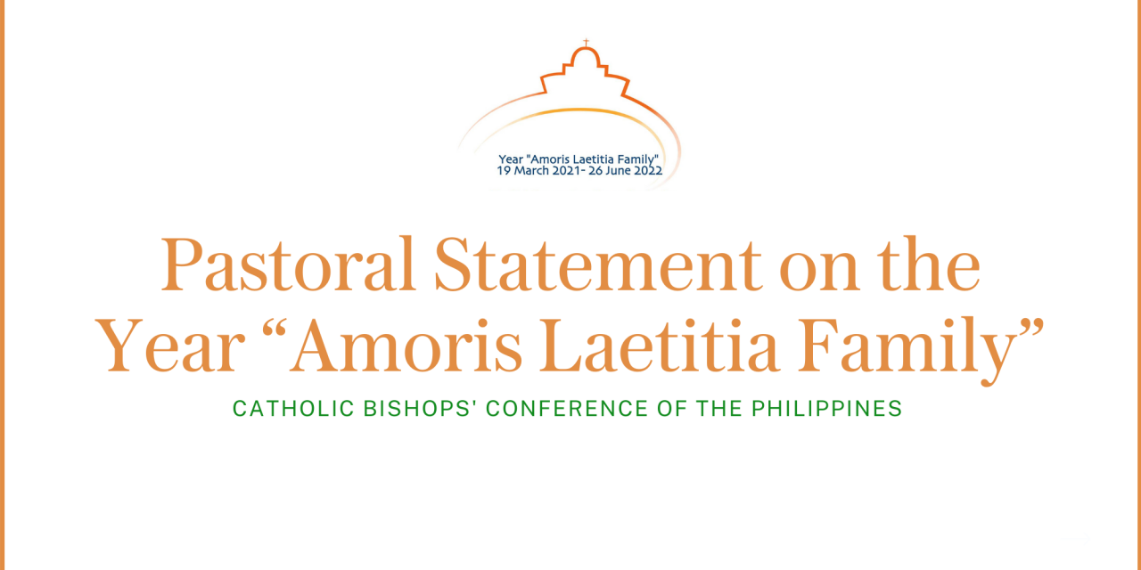 """CBCP Pastoral Statement on the Year """"Amoris Laetitia Family"""""""