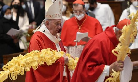Pope Francis on Palm Sunday: Lift your eyes to the cross in Holy Week