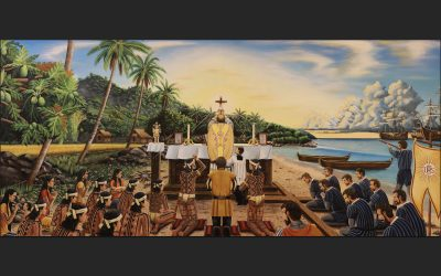 Maasin diocese unveils 1521 Easter Sunday Mass painting