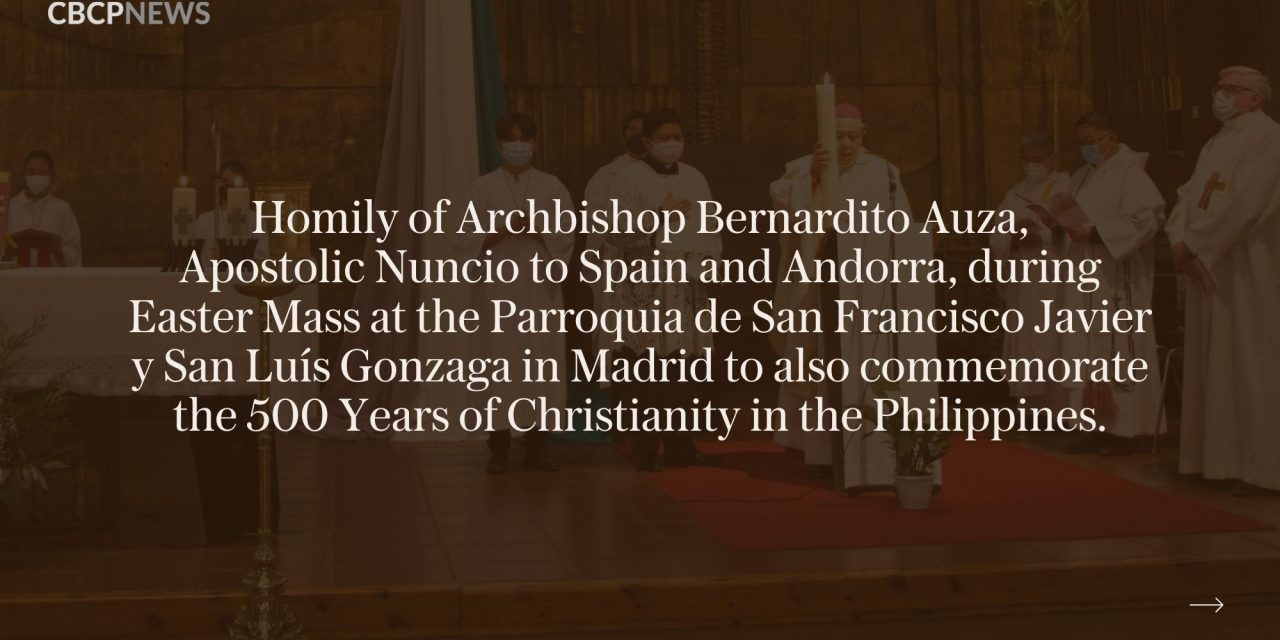 Fifth centenary of evangelization