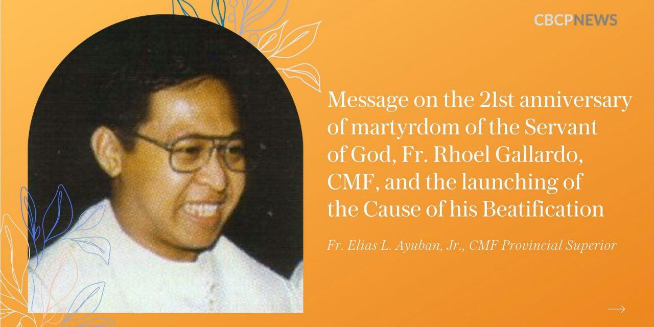 Fr. Rhoel Gallardo: The 'little Claret'