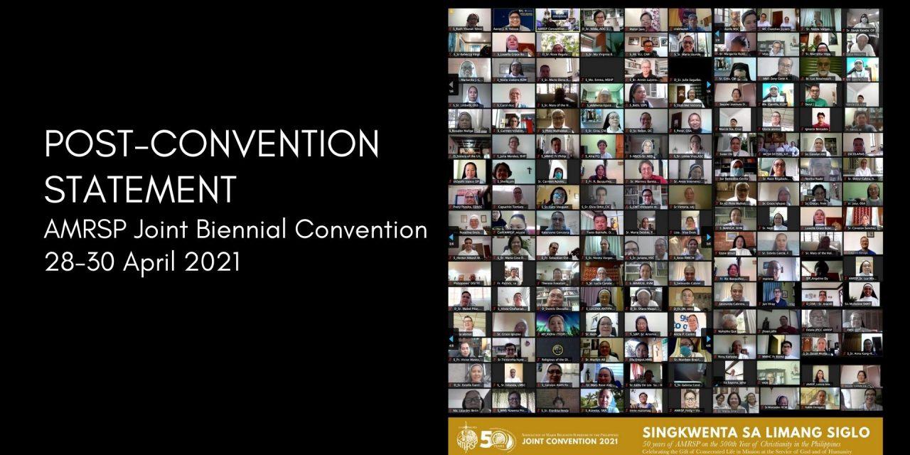 AMRSP Post-Convention Statement
