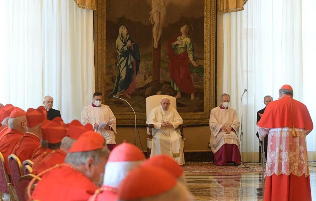 Pope Francis presides at consistory for canonization of blesseds