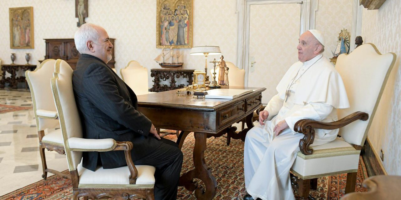 Pope Francis meets with Iran's foreign minister, speaks to Turkish president about Palestinians
