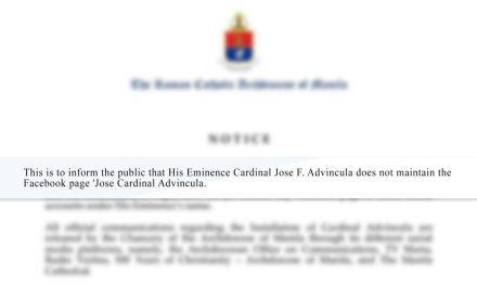 Manila archdiocese warns of fake Facebook page posing as Cardinal Advincula