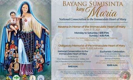 CBCP releases prayer for June 12 Nat'l Consecration to the Immaculate Heart of Mary