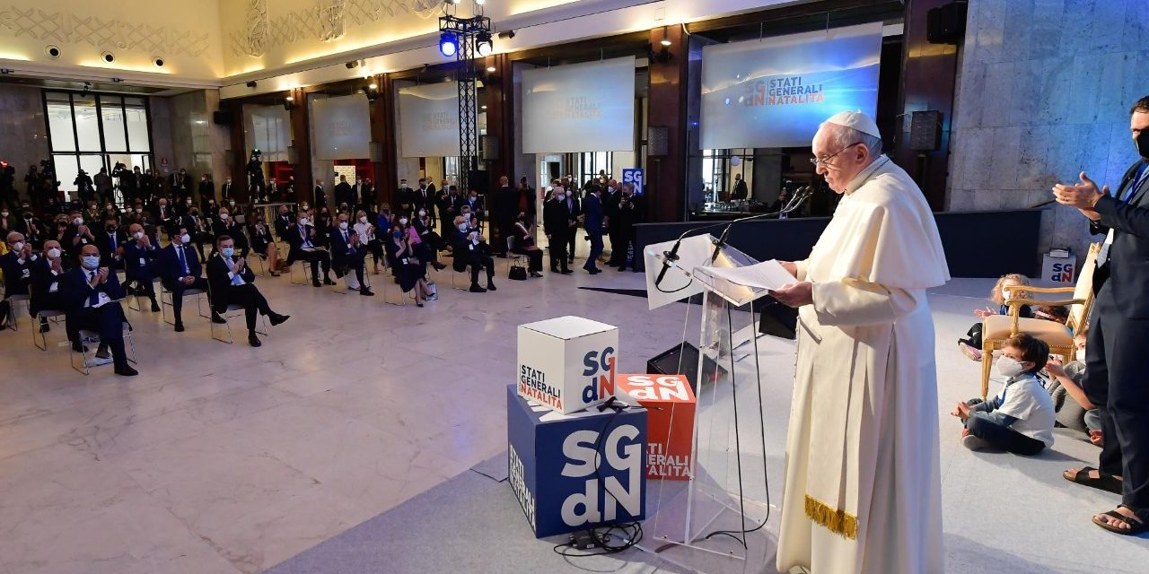 Pope Francis asks society which it values more: Children or money