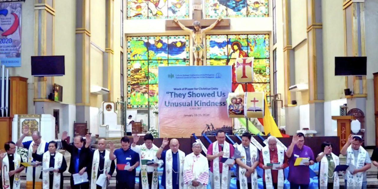 Christian churches reaffirm unity, solidarity