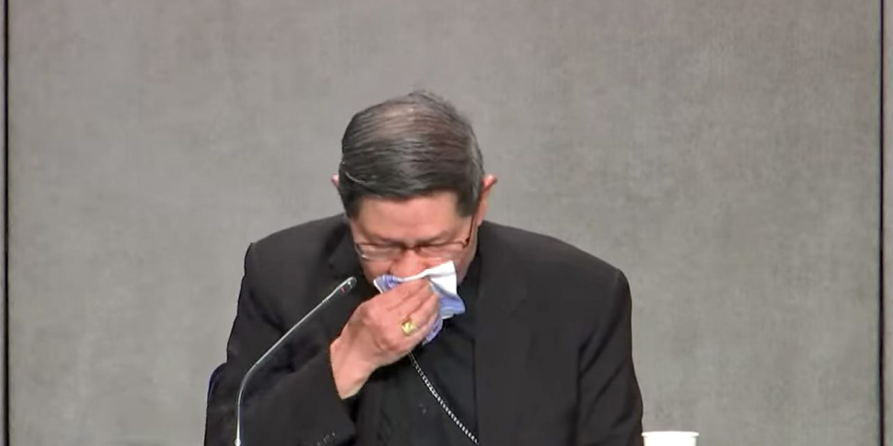 Cardinal Tagle chokes up while recalling grandfather's migration story