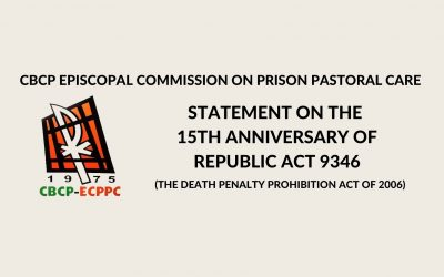 CBCP-ECPPC statement on the 15th anniversary of death penalty abolition