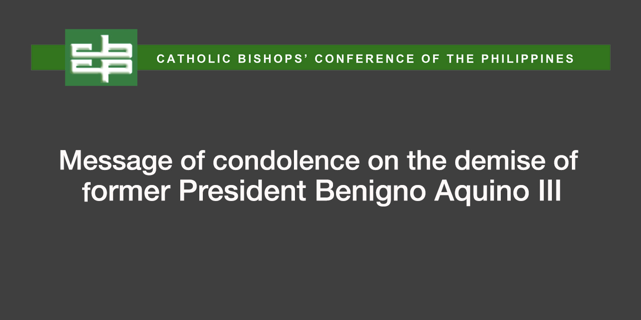 CBCP's condolence message on the demise of former President Aquino