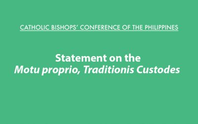 CBCP Statement on the Motu proprio, Traditionis Custodes