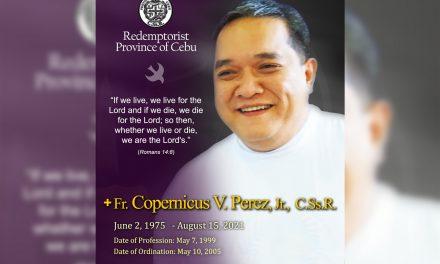 Fr. Perez, Redemptorist Province of Cebu's superior, dies at 46