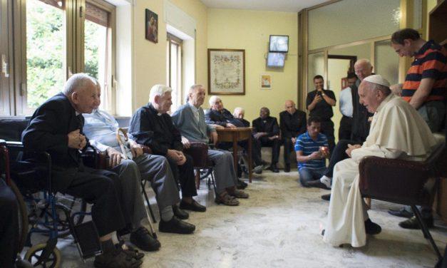 Pope Francis tells elderly priests: 'Aging is a privilege'
