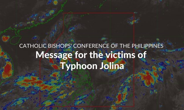CBCP message for the victims of Typhoon Jolina
