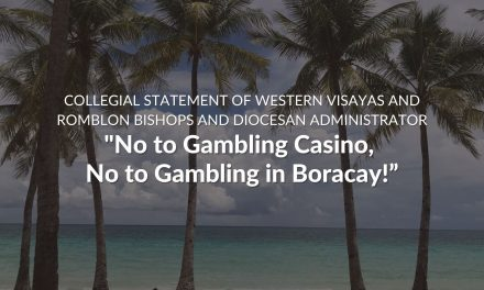 'No to gambling casino, no to gambling in Boracay!'
