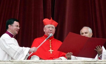 Pope Francis mourns 'self-sacrificing' cardinal who announced Benedict XVI's election