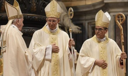 Pope Francis ordains Msgr. Guido Marini a bishop in St. Peter's Basilica