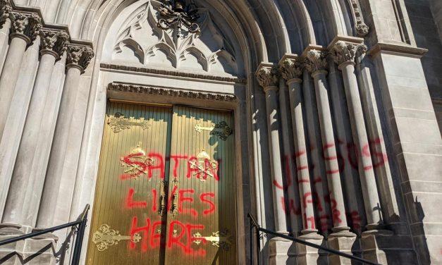 Denver cathedral vandalized with anti-Catholic slogans